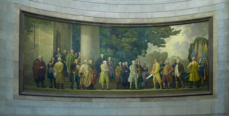 Declaration Mural photo by Carol Highsmith